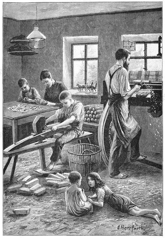 Toy manufacturing, 19th century