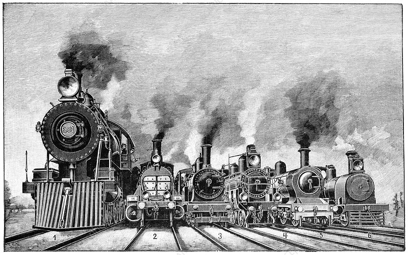 Steam locomotives, early 20th century