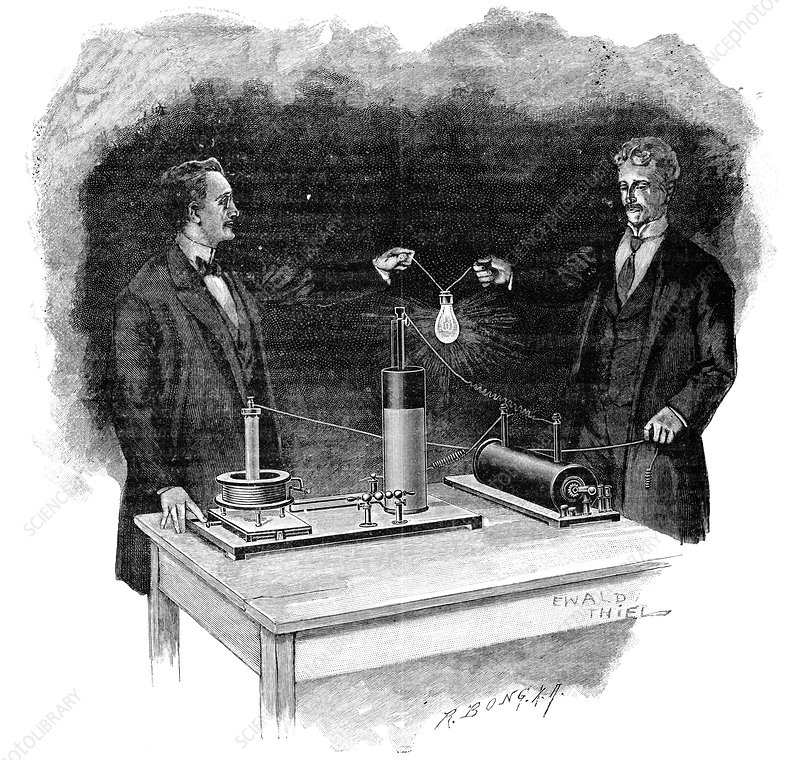 Electrical experiment, early 20th century