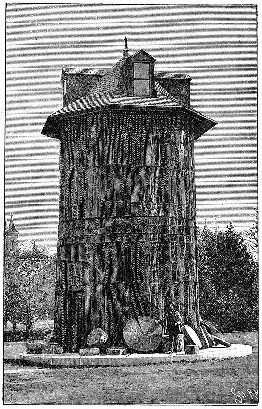 Redwood tree house, 19th century