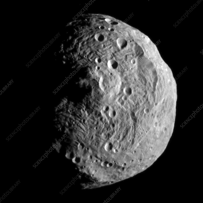 Vesta asteroid, satellite image