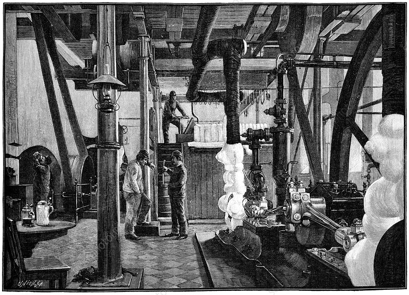 Industrial ice production, 19th century
