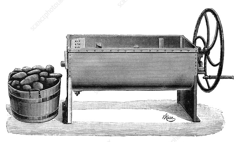 Root vegetable washer, 19th century