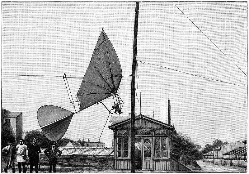 Stentzel's flying machine, 19th century