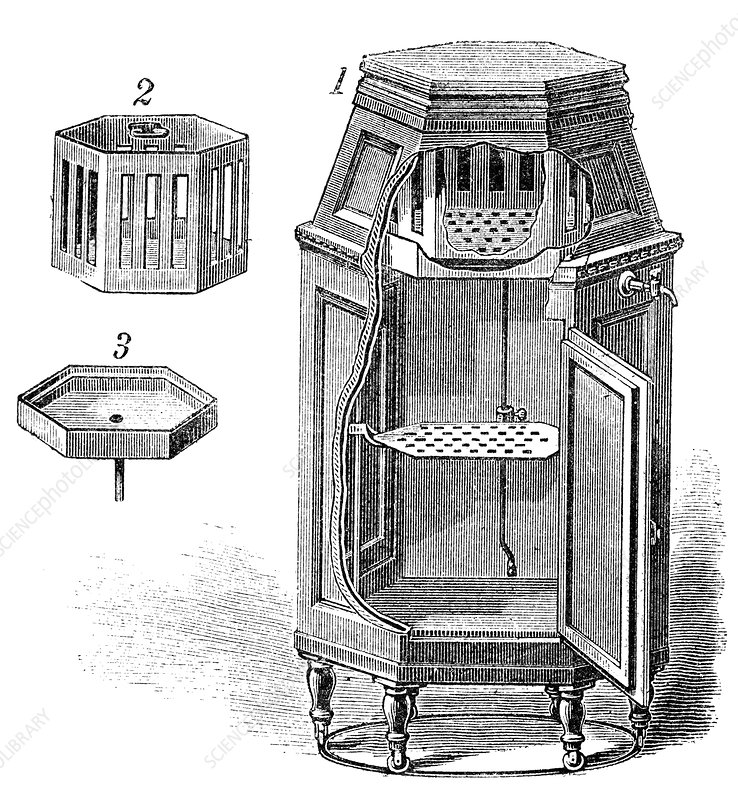 Early Refrigerator 19th Century Stock Image C011 5304