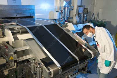 Electric car battery production