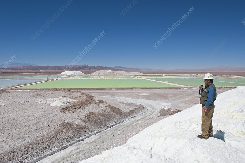 Lithium evaporation ponds