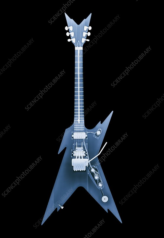 Electric guitar, X-ray