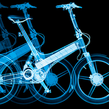 Electric folding bicycles, X-ray
