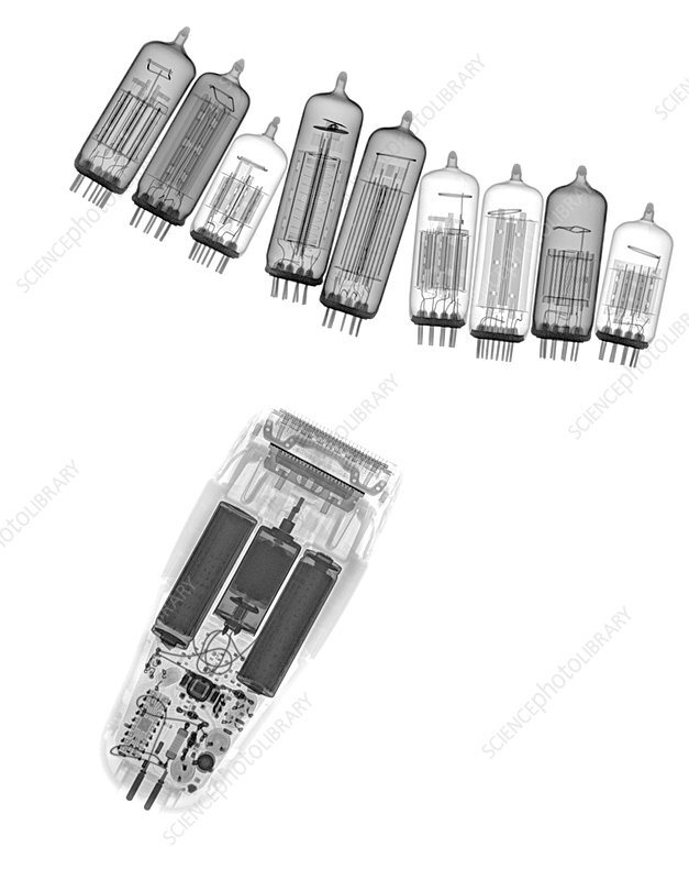 Assorted electrical devices, X-ray