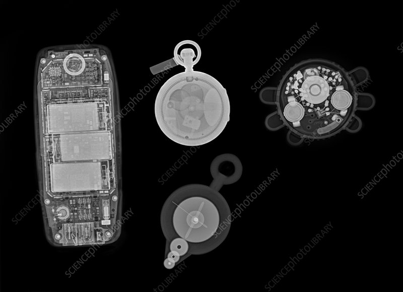 Assorted common objects, X-ray