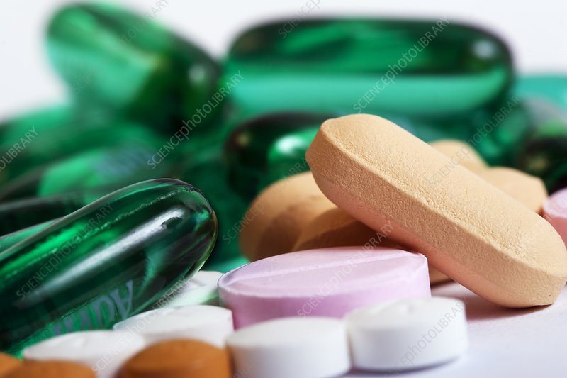 Assorted pills and medication