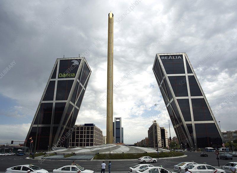 Gate of Europe and obelisk, Madrid