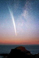 Comet Lovejoy at dawn