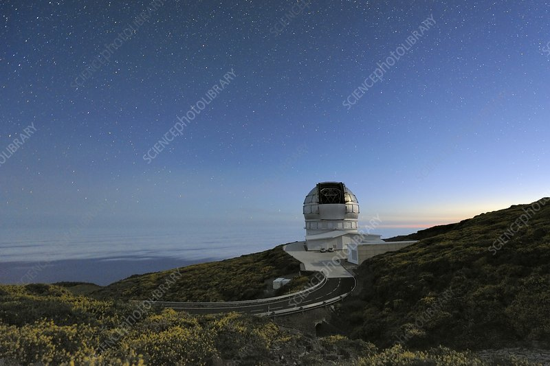 GranTeCan telescope at dawn