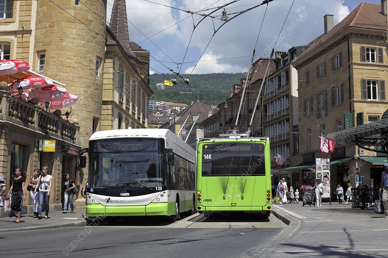 City centre trolleybuses