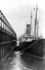 RMS Carpathia docked in New York