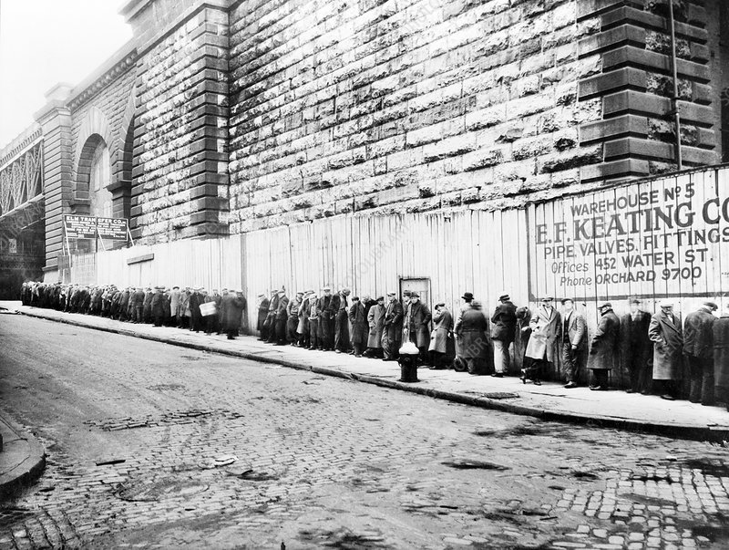 Bread line, New York, 1930s