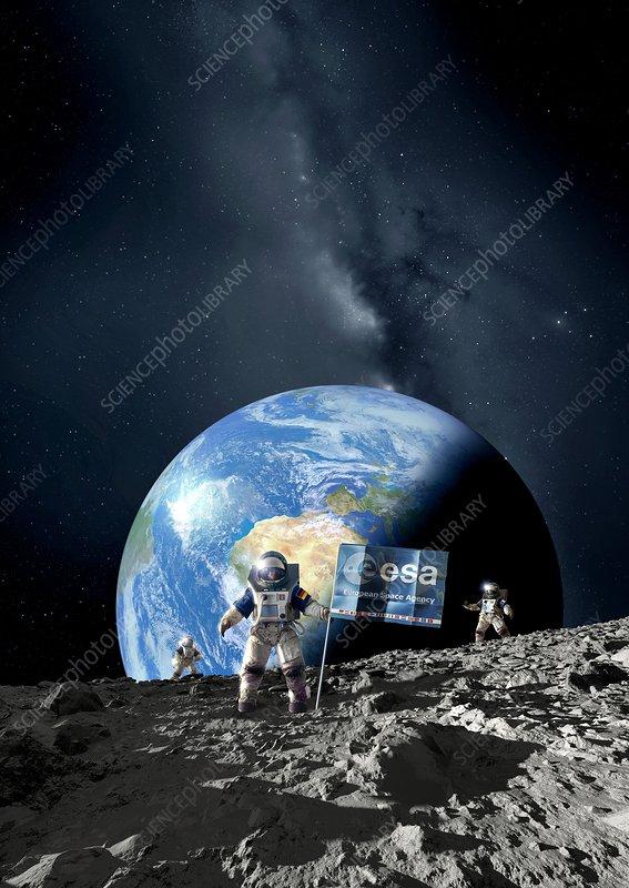 ESA lunar exploration, artwork