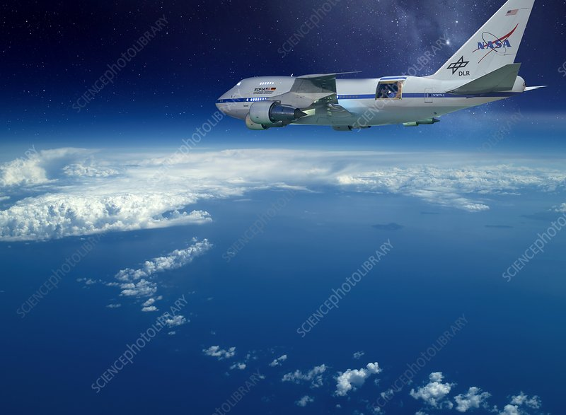 SOFIA airborne observatory in flight