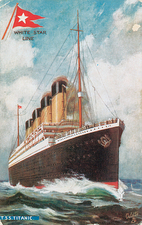 Painting of the Titanic
