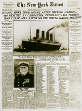 Sinking of the Titanic, NY Times Article