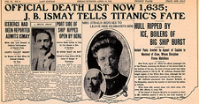 Sinking of the Titanic, newspaper page