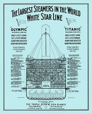 Titanic and Olympic layouts, artwork