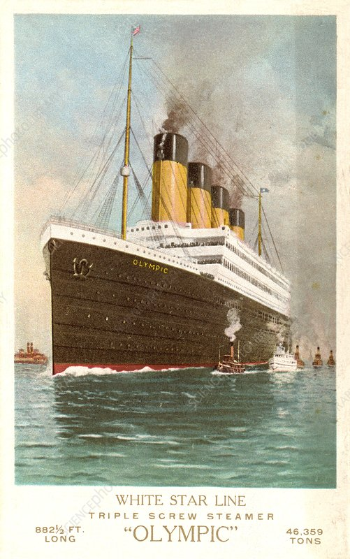Painting of the RMS Olympic