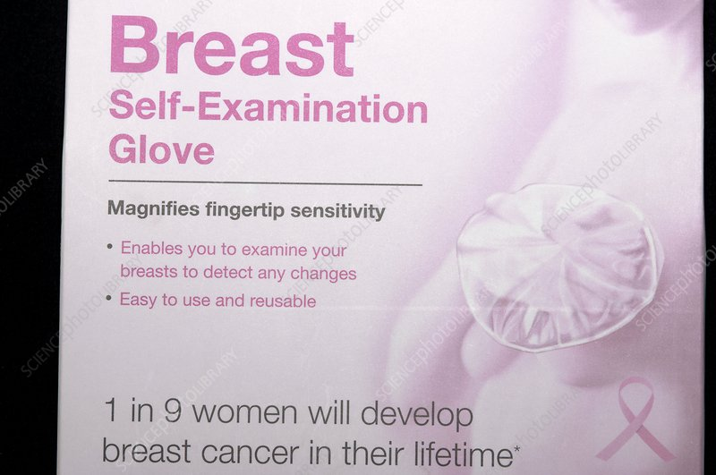 Breast self-examination glove