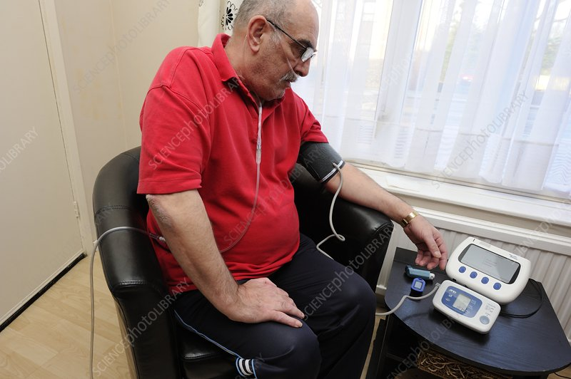 COPD patient monitoring blood pressure