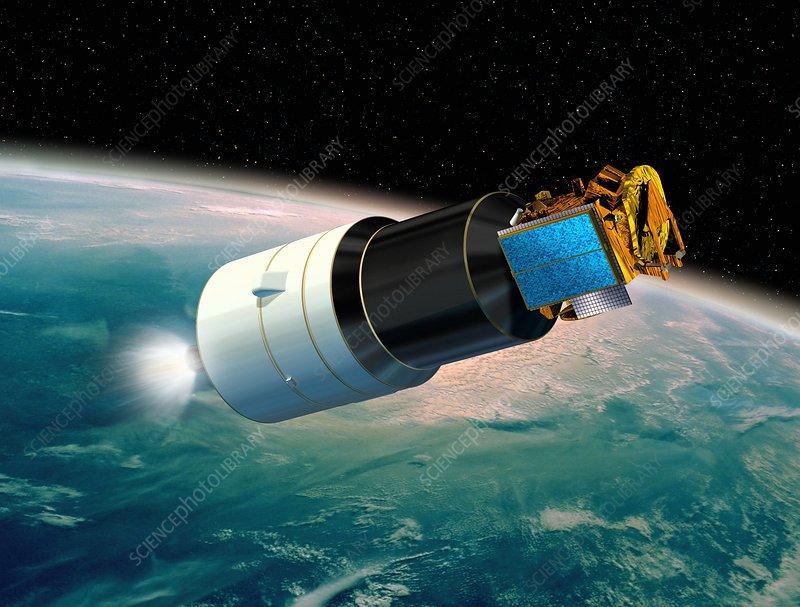 Ariane 5 payload deployment, artwork