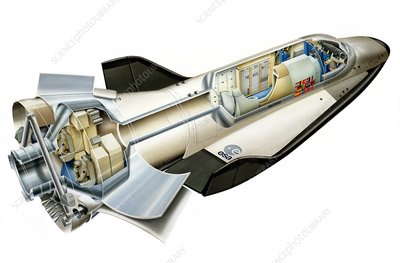 Hermes space shuttle, artwork