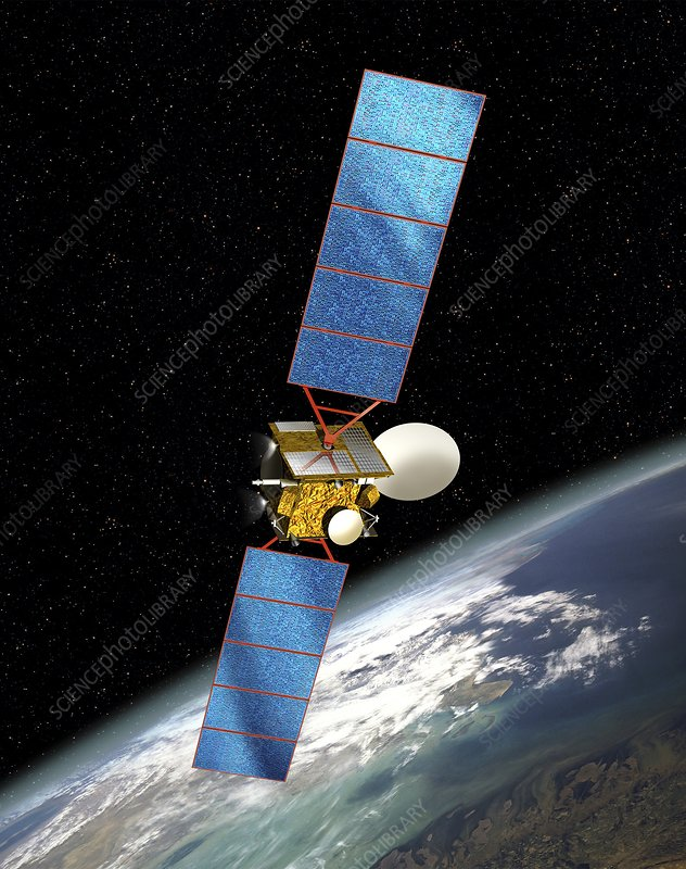 Communications satellite, artwork