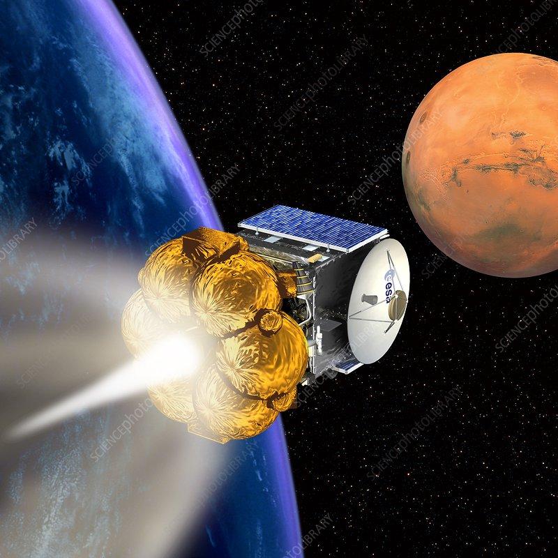 Mars Express booster rocket, artwork