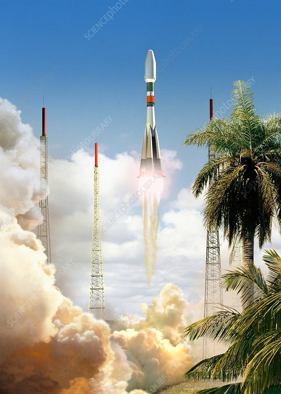 Soyuz-2 rocket launch, artwork