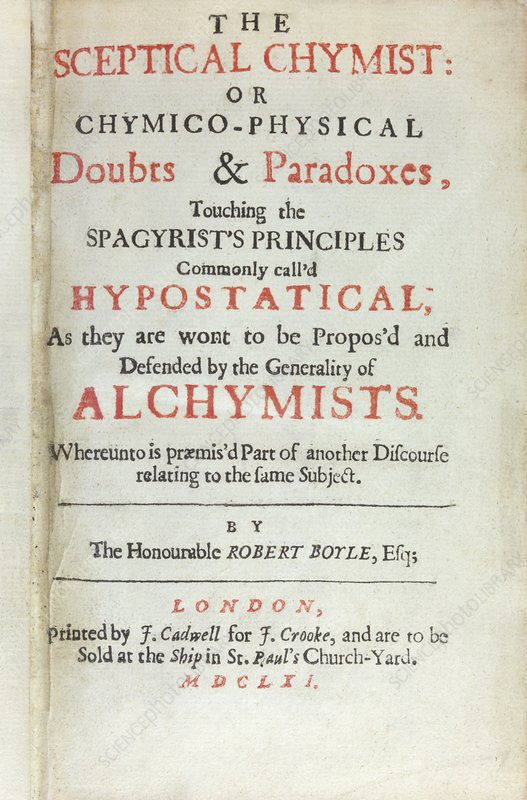 The Sceptical Chymist (1661)