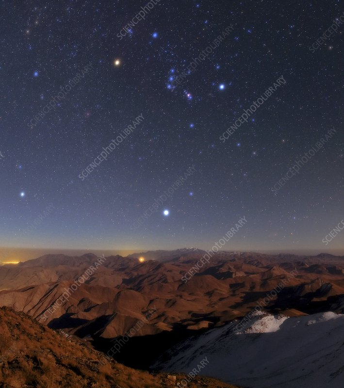Orion and Sirius over Iran