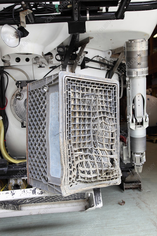 Milk Crate Melted by Submarine Jet
