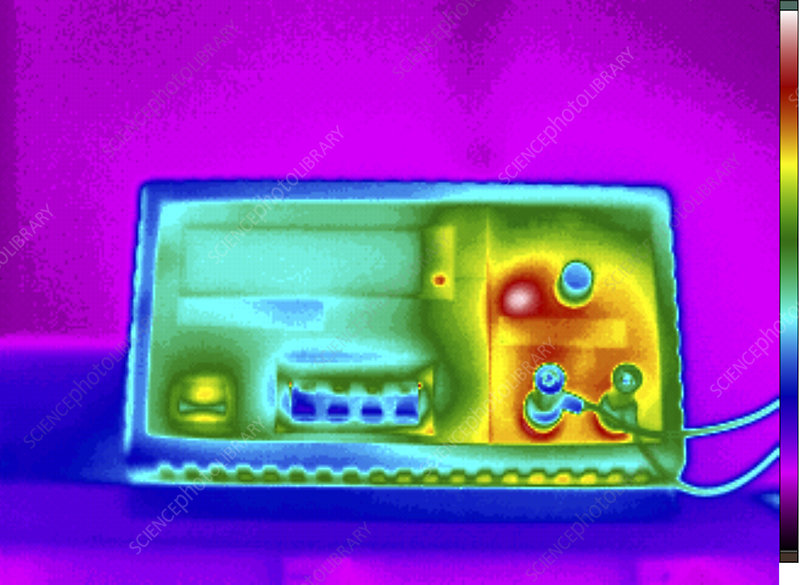 Thermogram of DC power supply