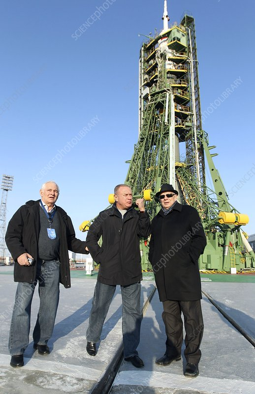Soviet scientists at Baikonur cosmodrome