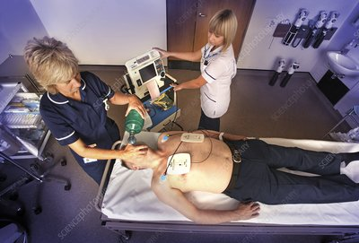 Resuscitation of heart attack patient