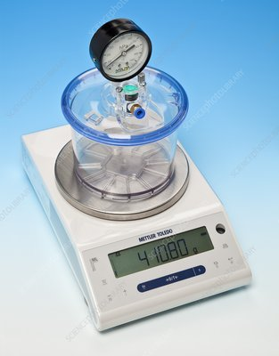 Weighing air, end of experiment