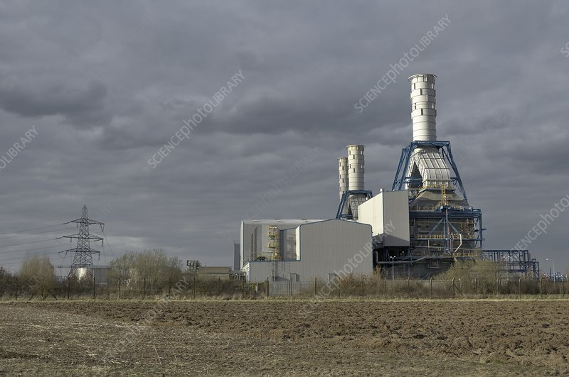 Combined cycle gas turbine power station