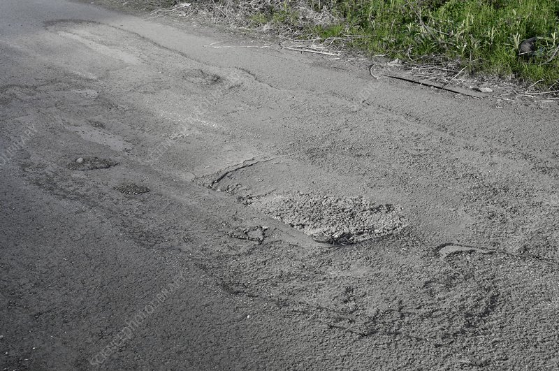 Wear and tear of road surface