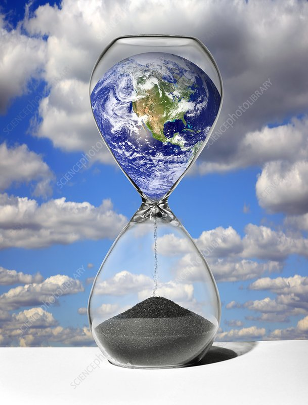 Time running out for the Earth, artwork