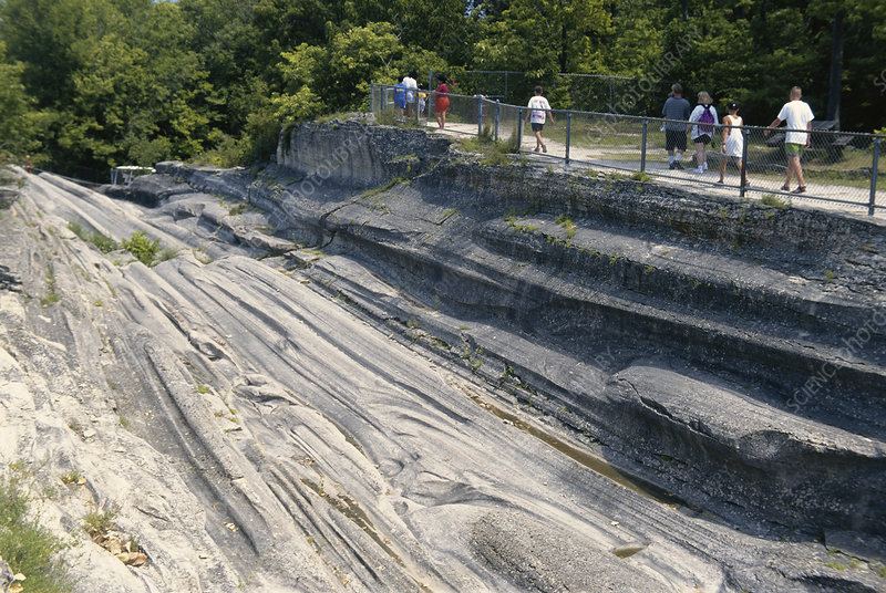 Glacial Grooves in Limestone