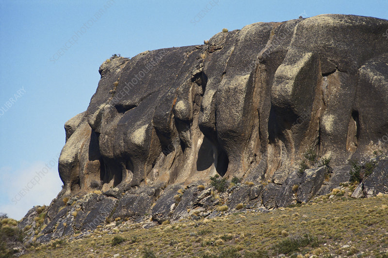 Eroded Cliff in Patagonia