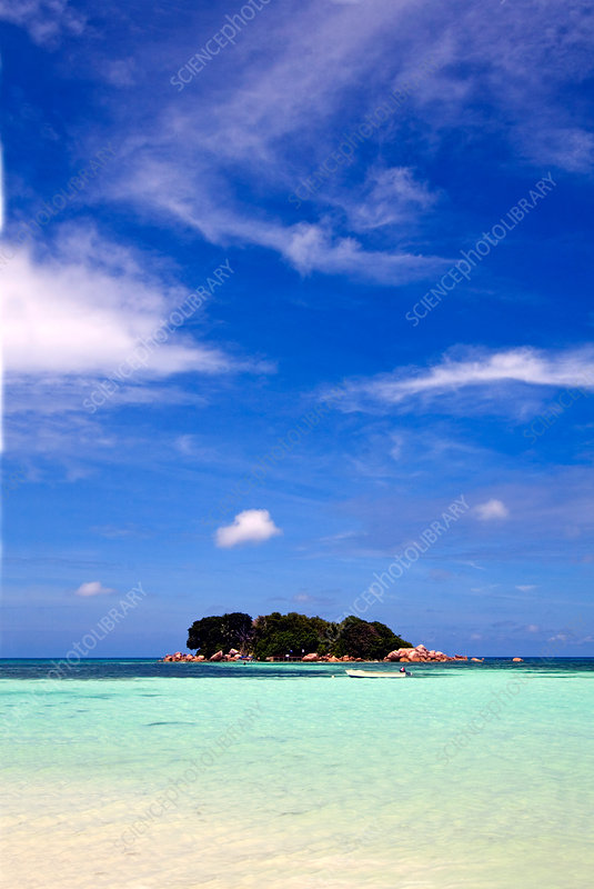 Island and Clouds, the Seychelles
