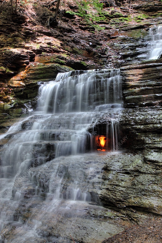 Waterfall and Natural Gas